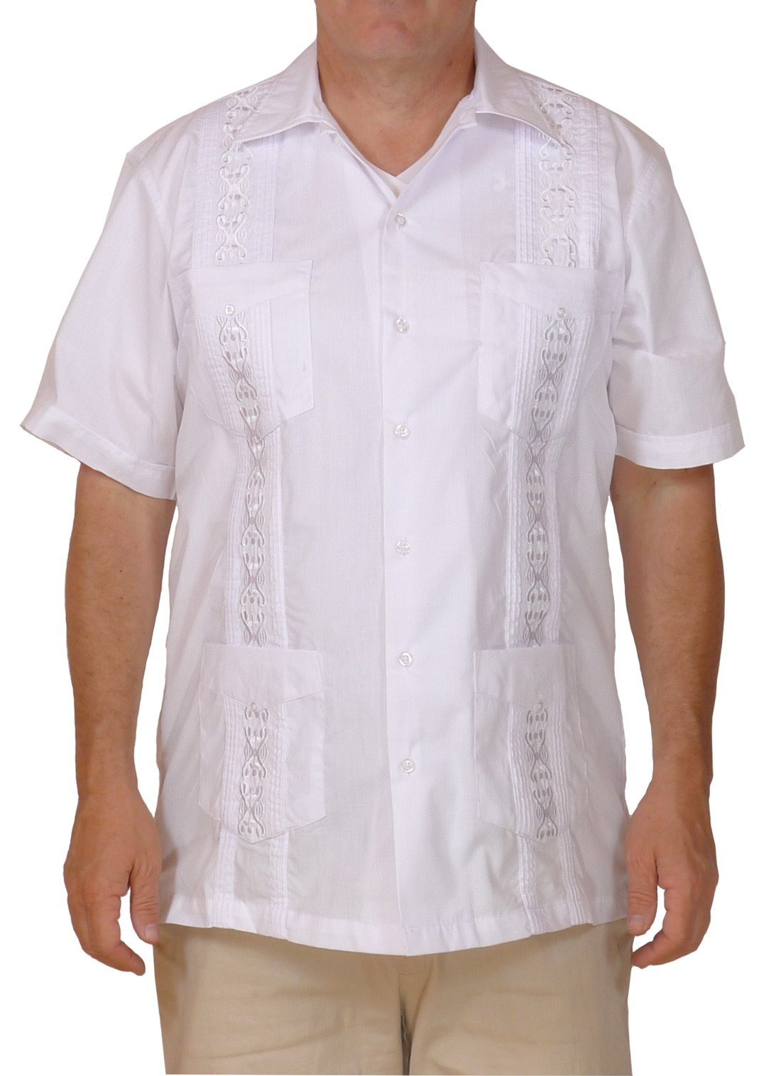 Image of White Embroidered