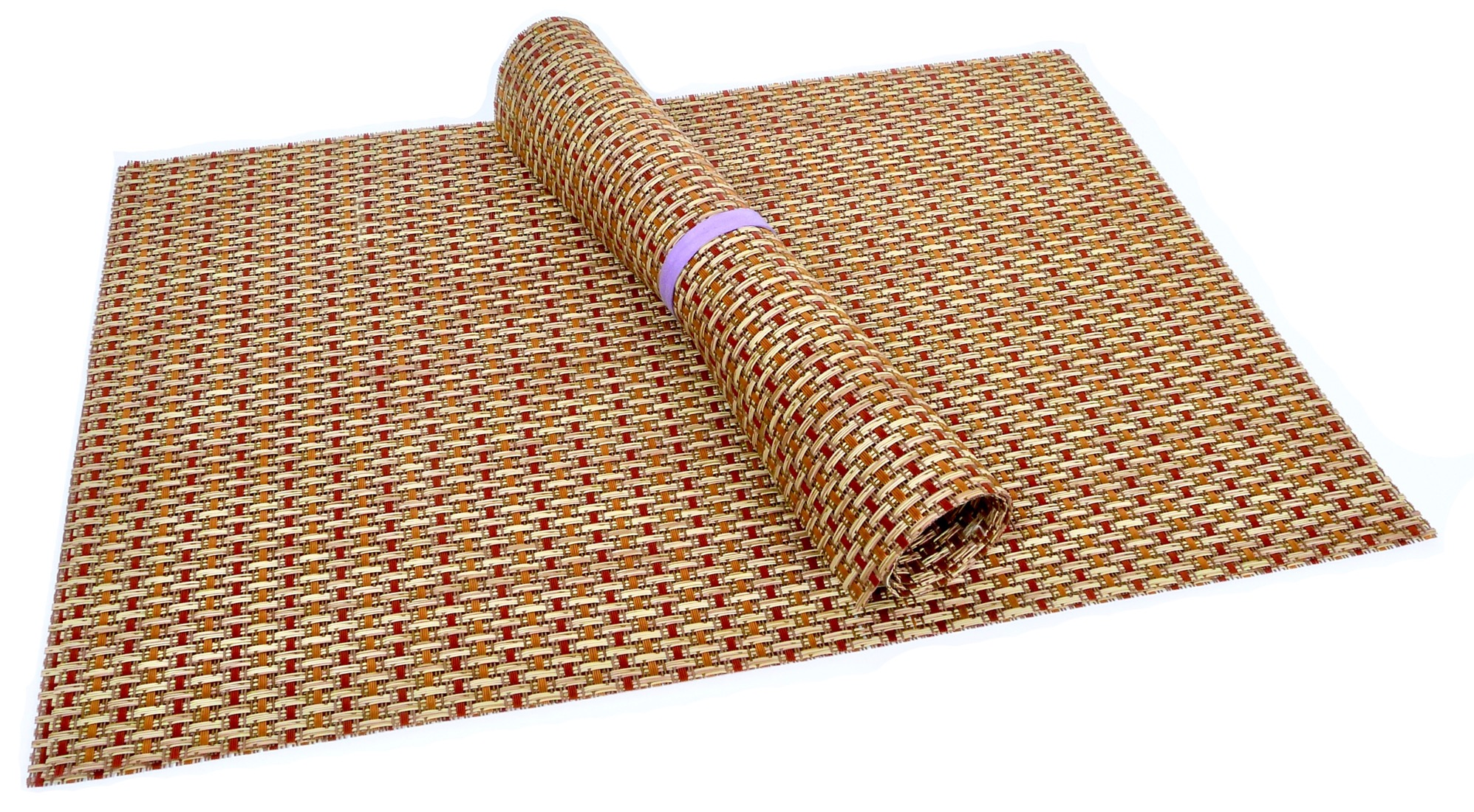 Image of Squish Crossweave Woven Vinyl Placemat, Set of 4 - Thicket Design
