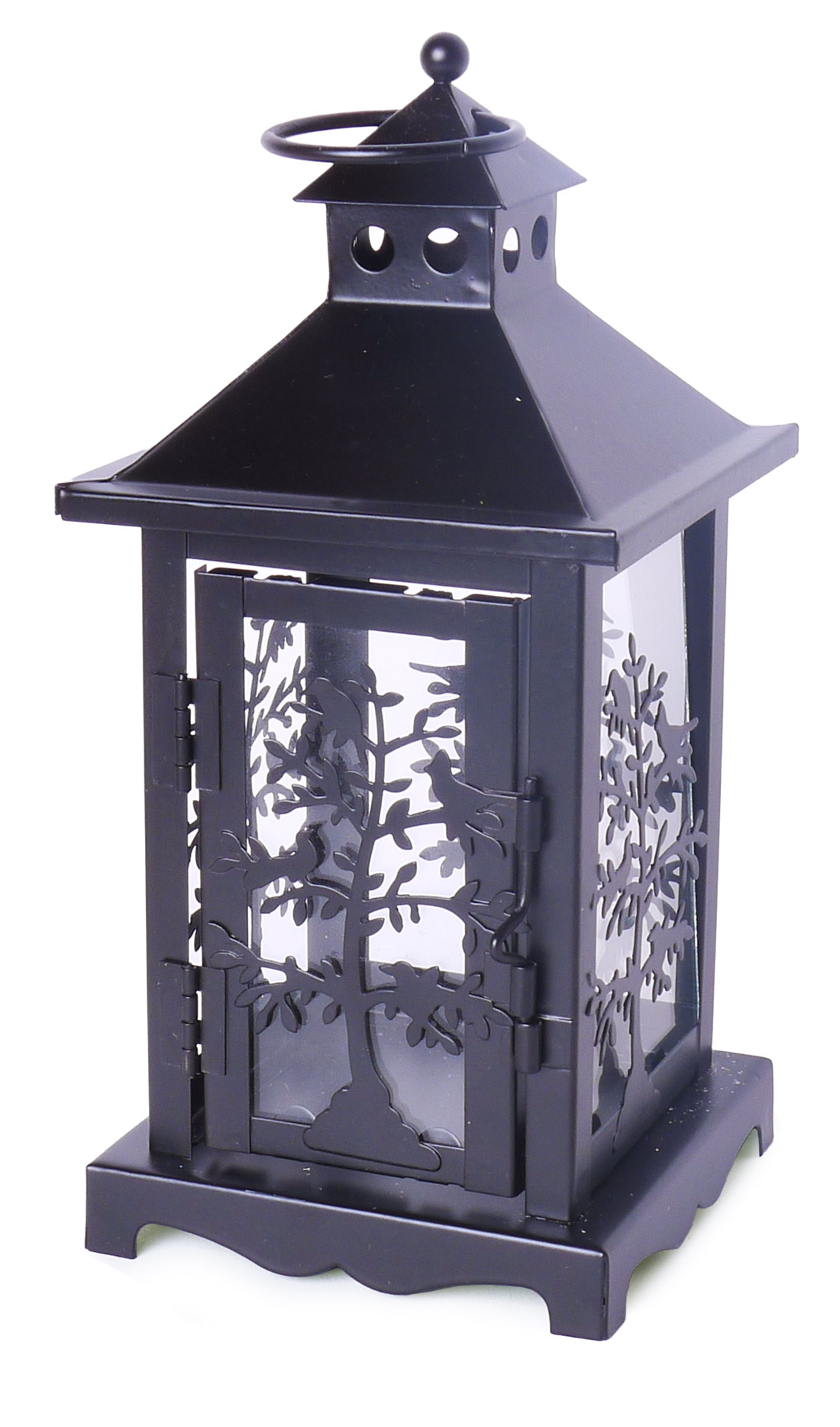 Image of Black Candle Lantern 8-Inch, Set of 2