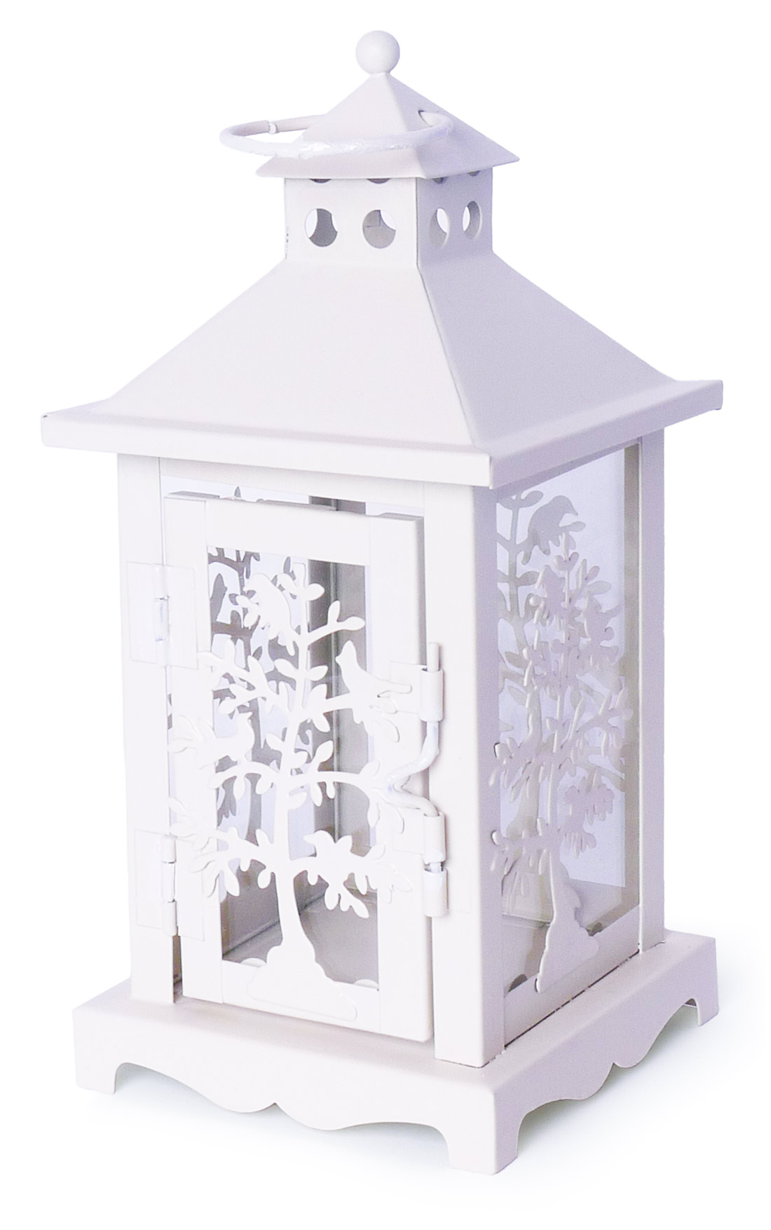 Image of White Candle Lantern 8-Inch, Set of 2