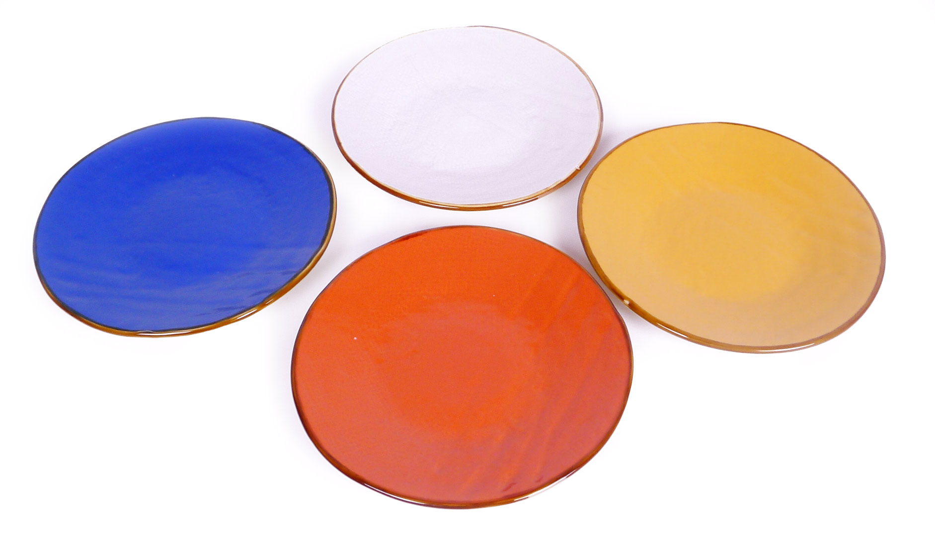 Image of Handcrafted Desert Dish Set of 4 - Mix of 4 colors
