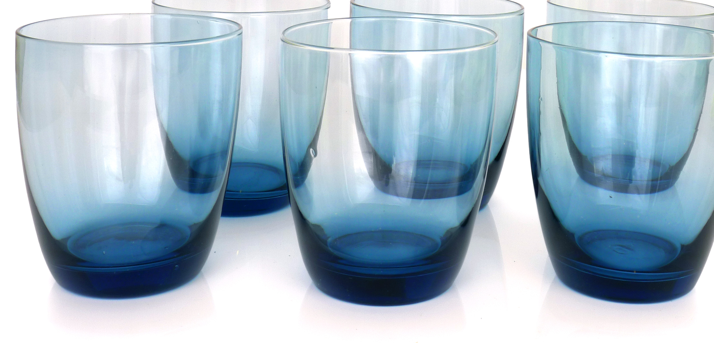 Image of 12-Oz Tumblers, Blue, Set of 6