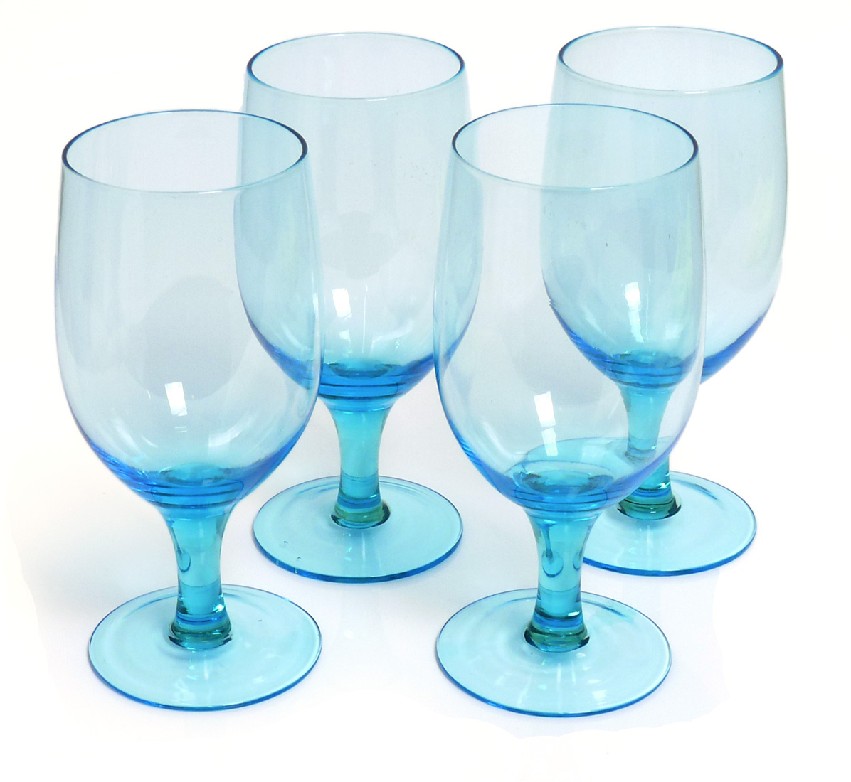 Image of Handcrafted Goblets, 16-ounce, Turquoise Blue, Set of 6