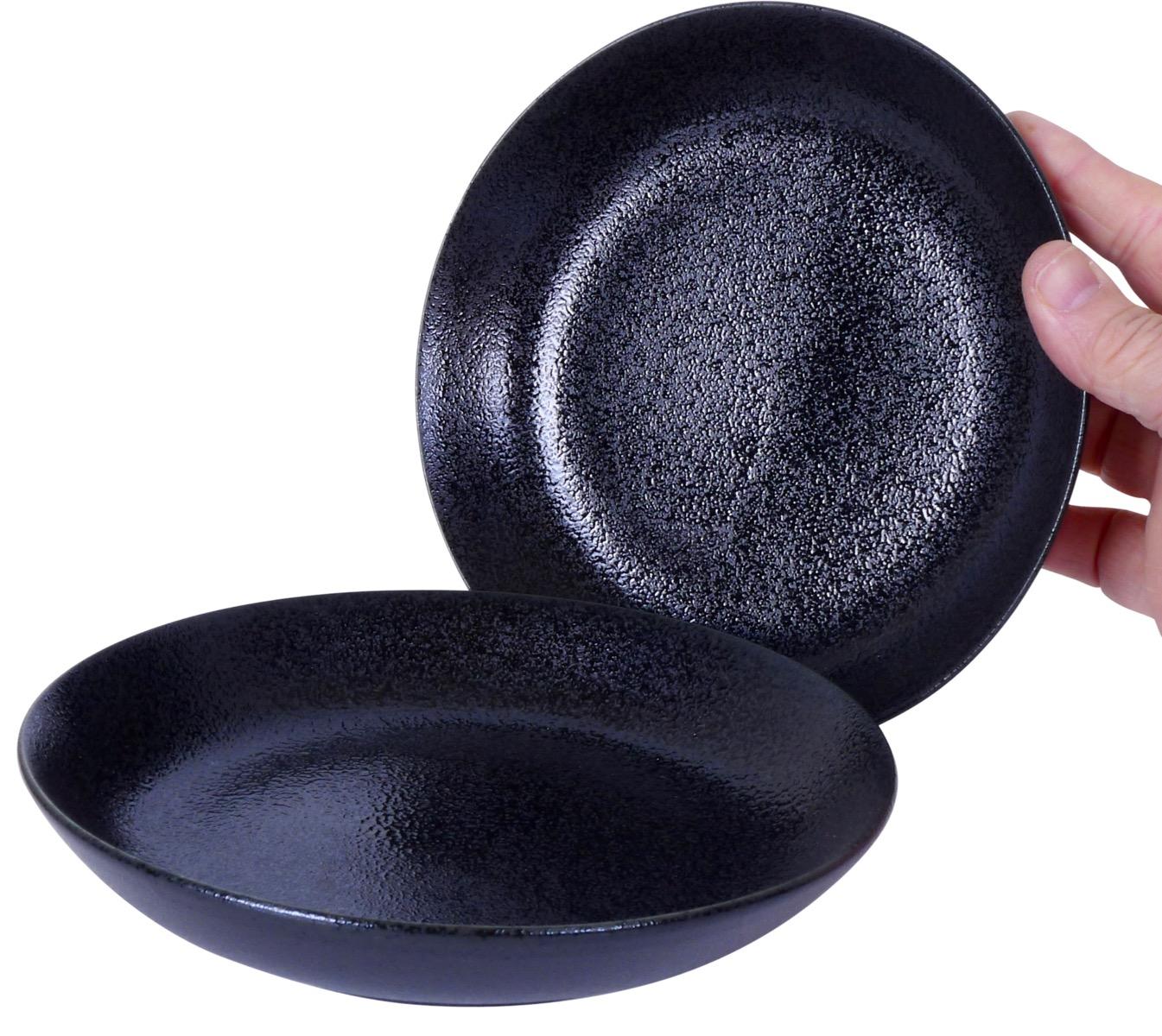 Image of Stoneware Black Bowl 7.5-Inch