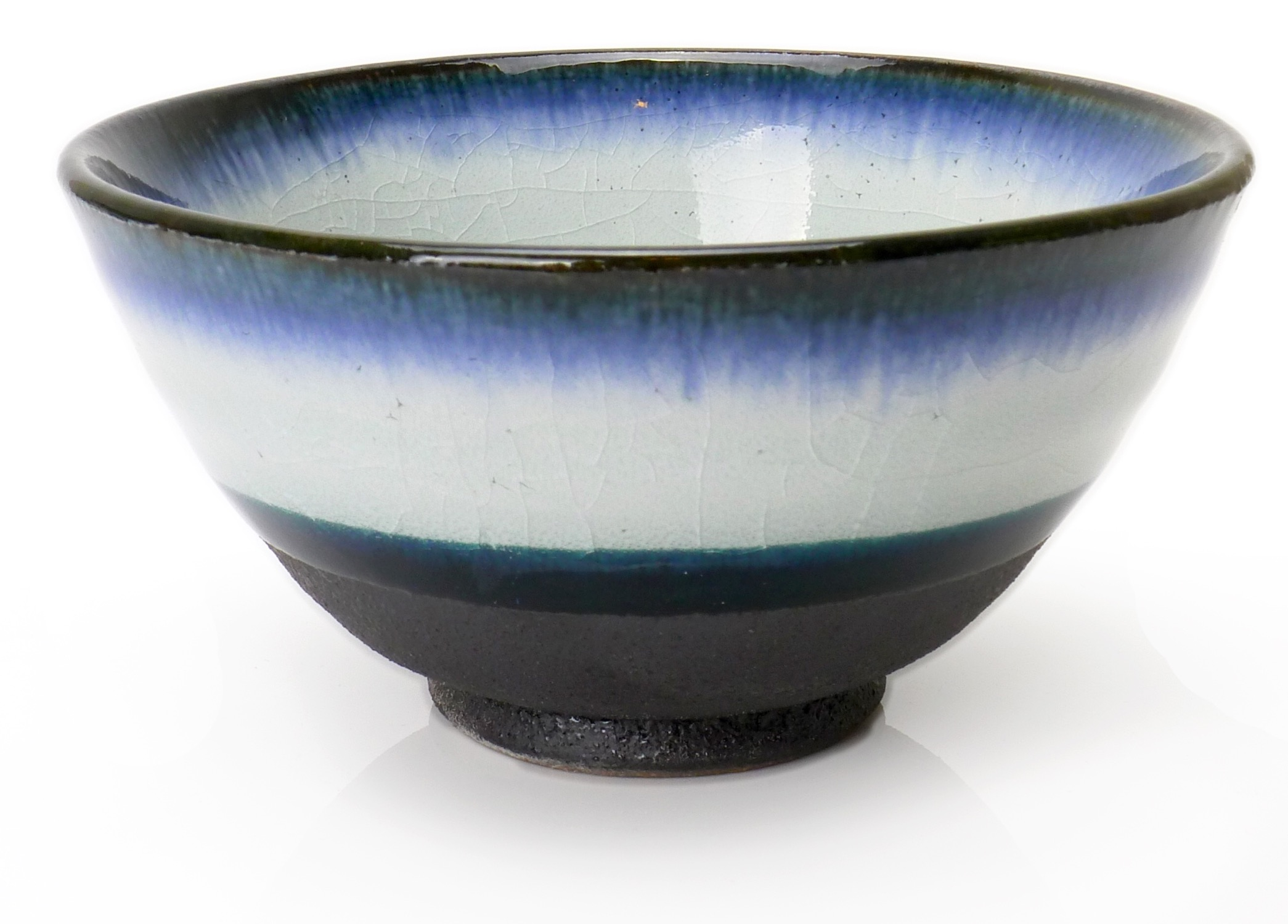 Image of White Porcelain Bowls with Indigo Dip, Appetizer or Dessert