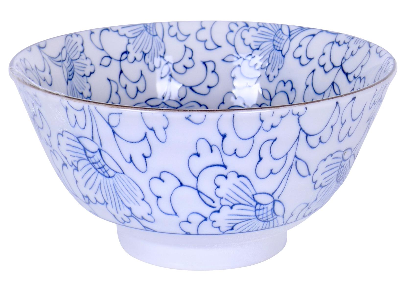 Image of Porcelain Bowls, Floral White, 4.75-Inch