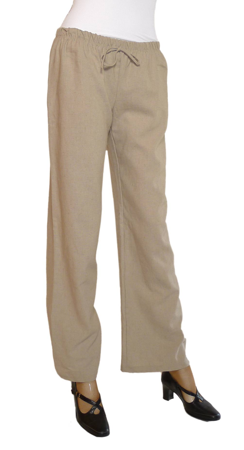 Cool The Womens Linen Wide Leg Pants By Merona Give Your Look A Little Retro Feel And A Lot Of Comfort The Neutral Womens Drawstring Waist Pants Give You The Versatility You Want For Styling Options The Legs On These Pants Are Way Too Wide