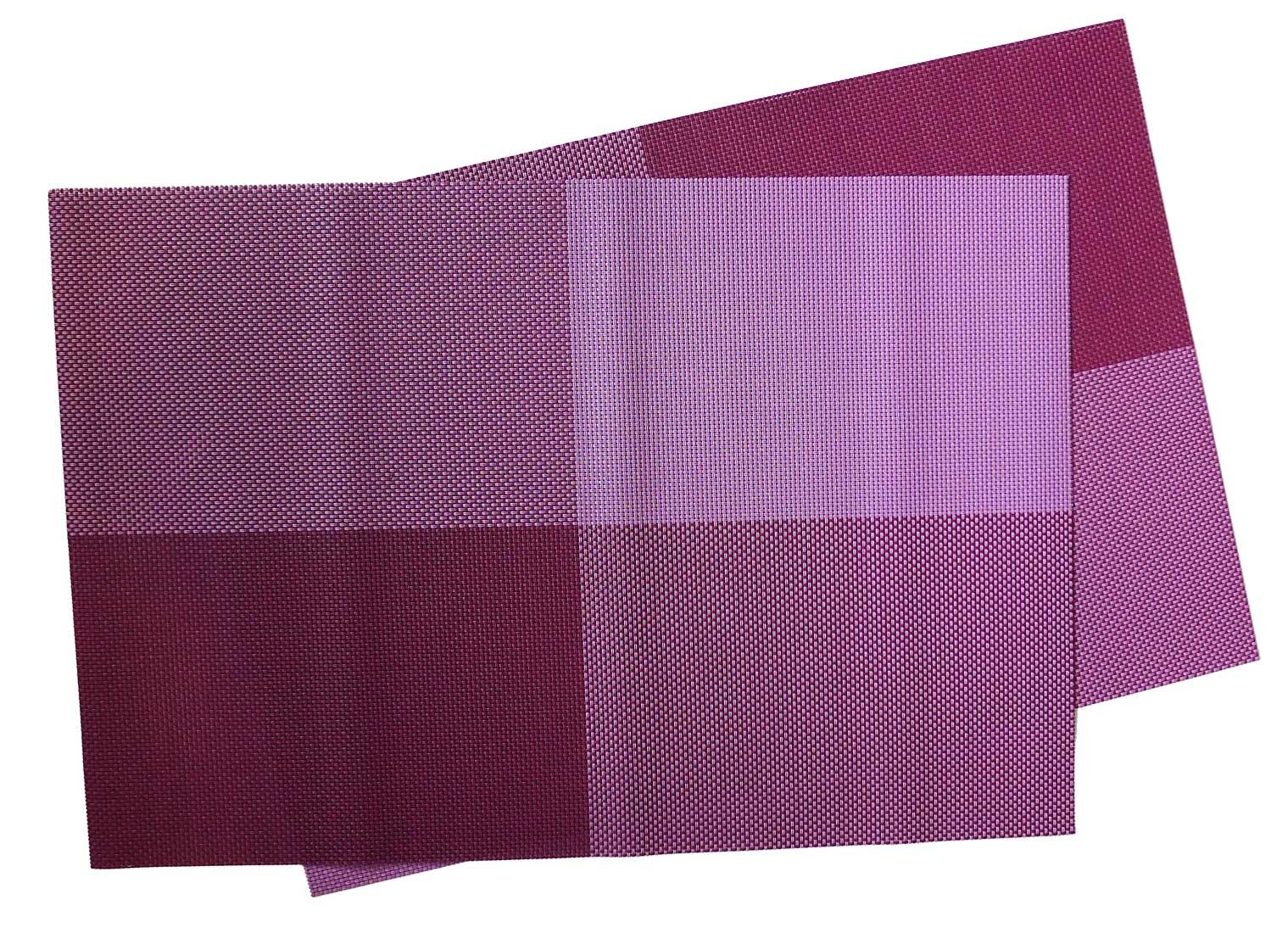 Image of Woven Vinyl Placemat,  Purple Squares MAT13