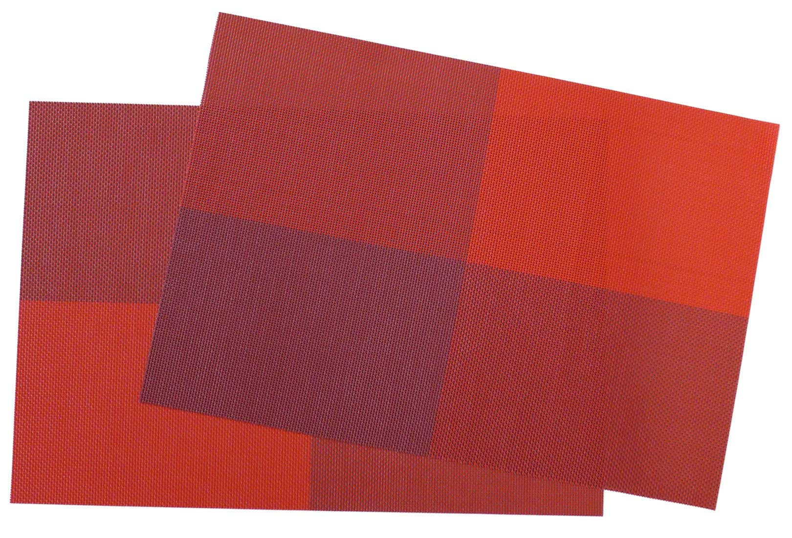 Image of Woven Vinyl Placemat,  Red Squares MAT14