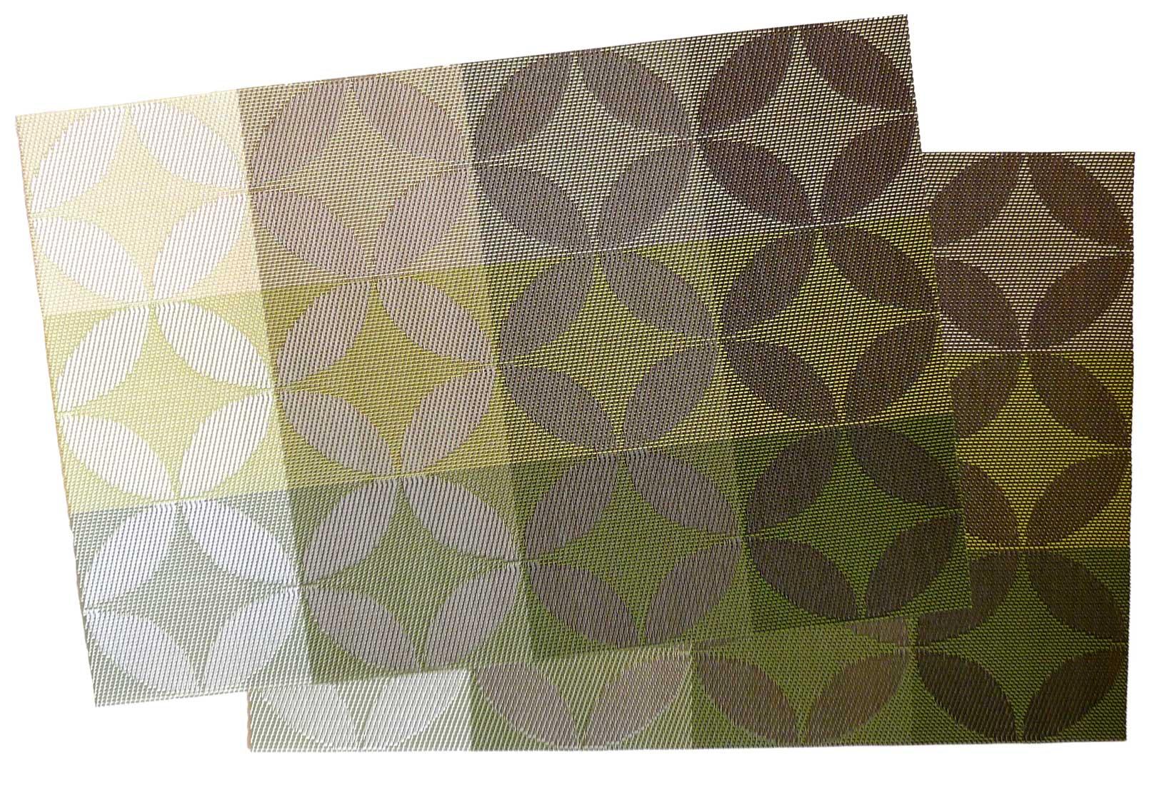 Image of Crossweave Woven Vinyl Placemat,  Green Diamonds MAT15