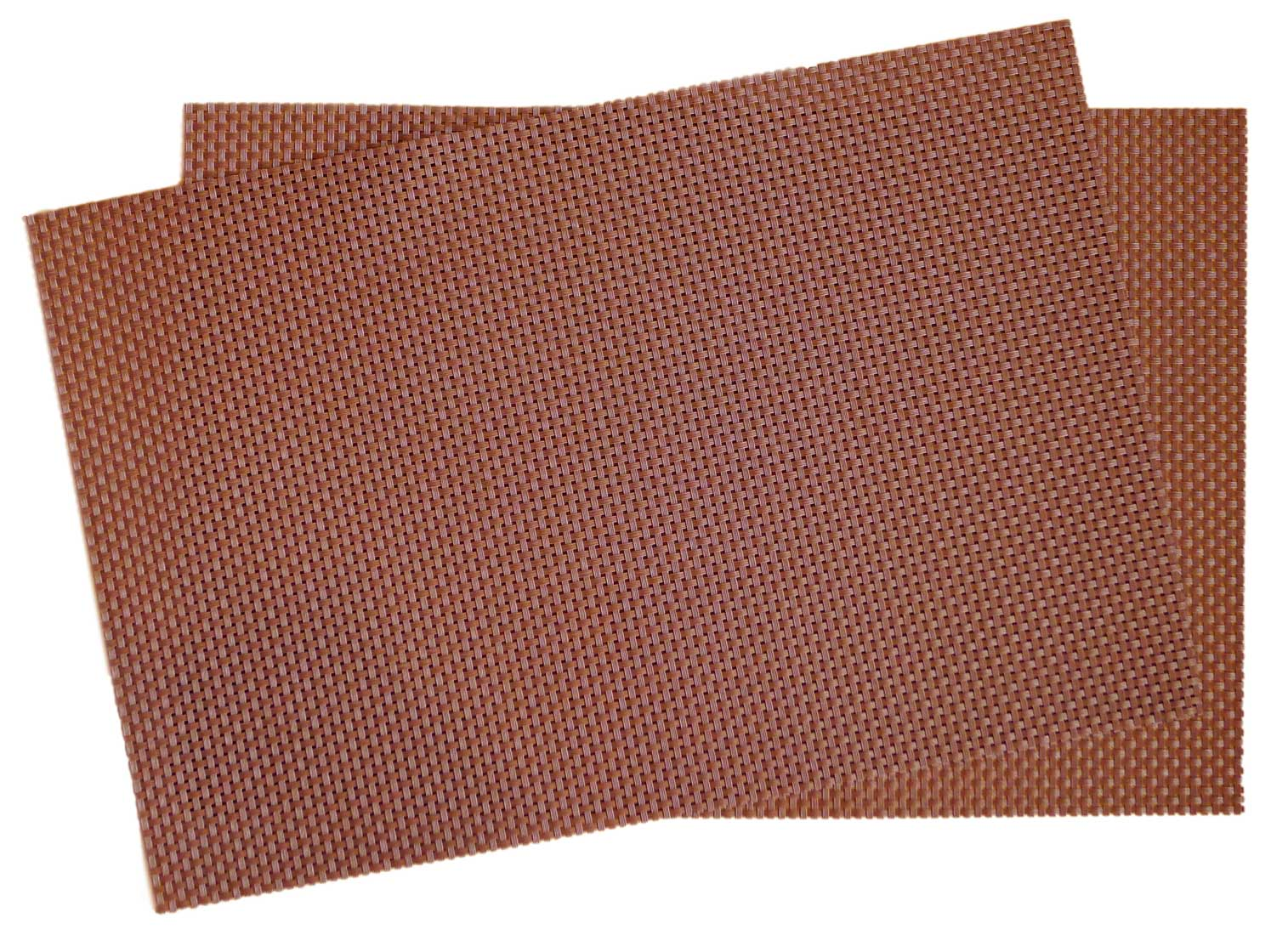 Image of Crossweave Woven Vinyl Placemat, Set of 4 - Chocolate Brown