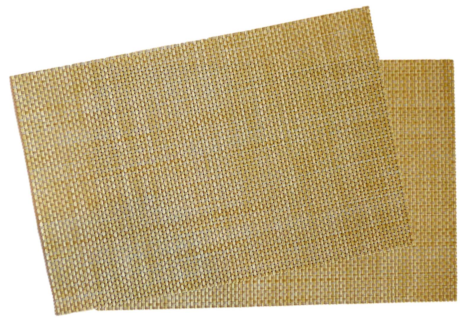 Image of Crossweave Woven Vinyl Placemat, Set of 4 - Light Moss