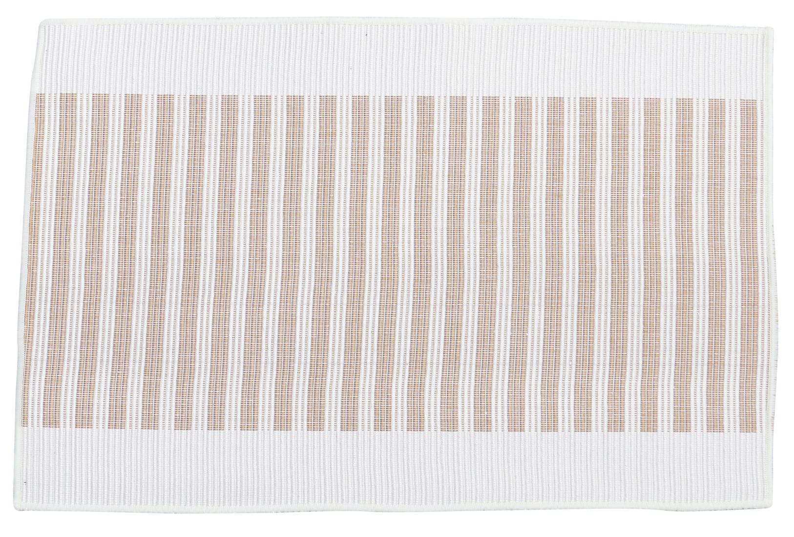 Image of Cotton - White and Linen Placemat