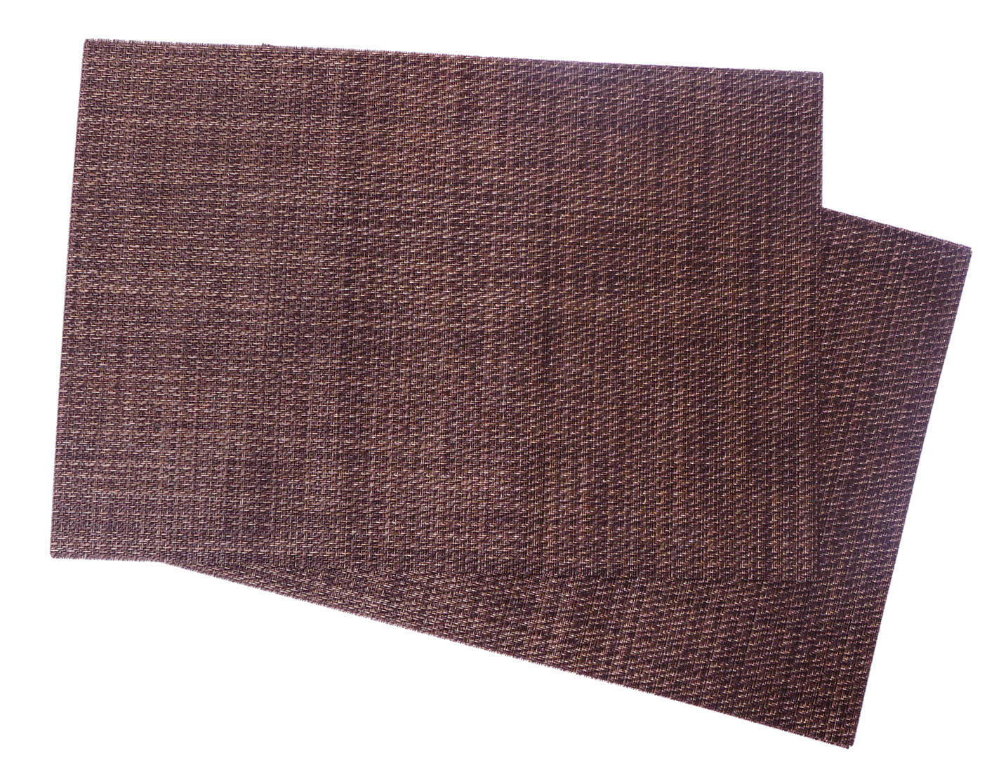 Image of Woven Vinyl Placemat, Brown Heather MAT26