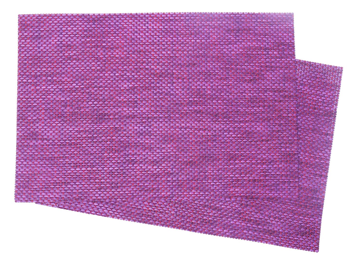 Image of Woven Vinyl Placemat, Purple Heather MAT30