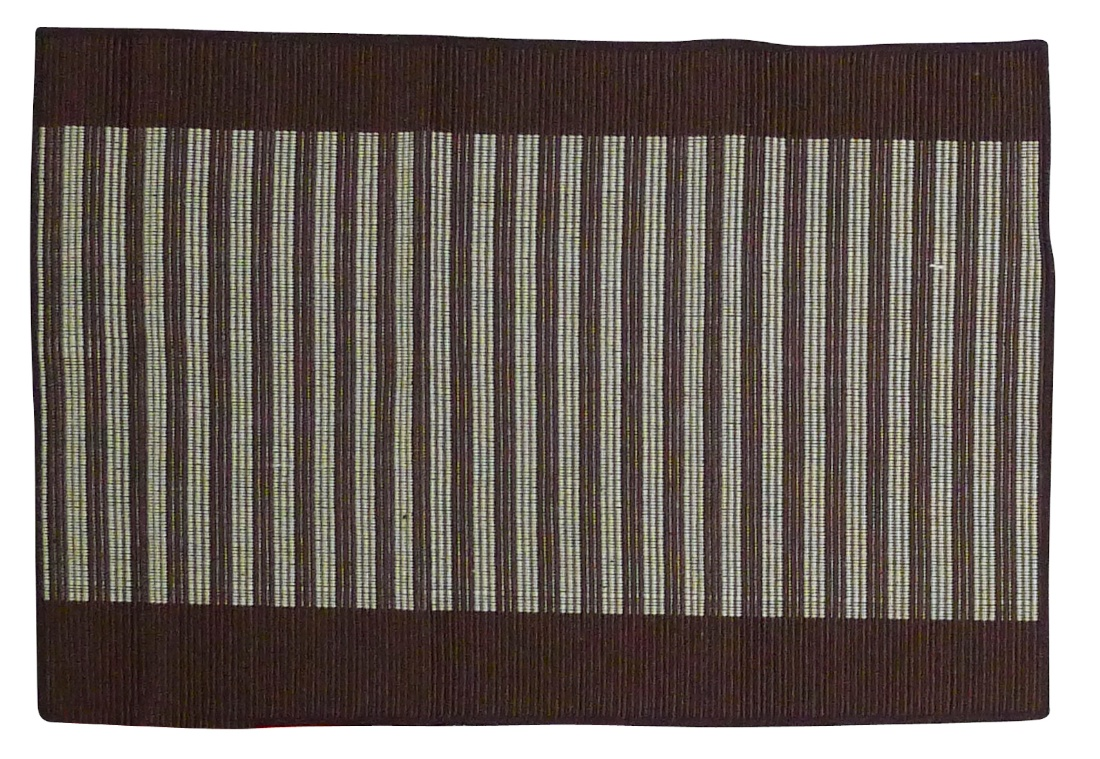 Image of Spiceberry Cotton Placemats - Two Tone - Cocoa and Tan - Set of 4