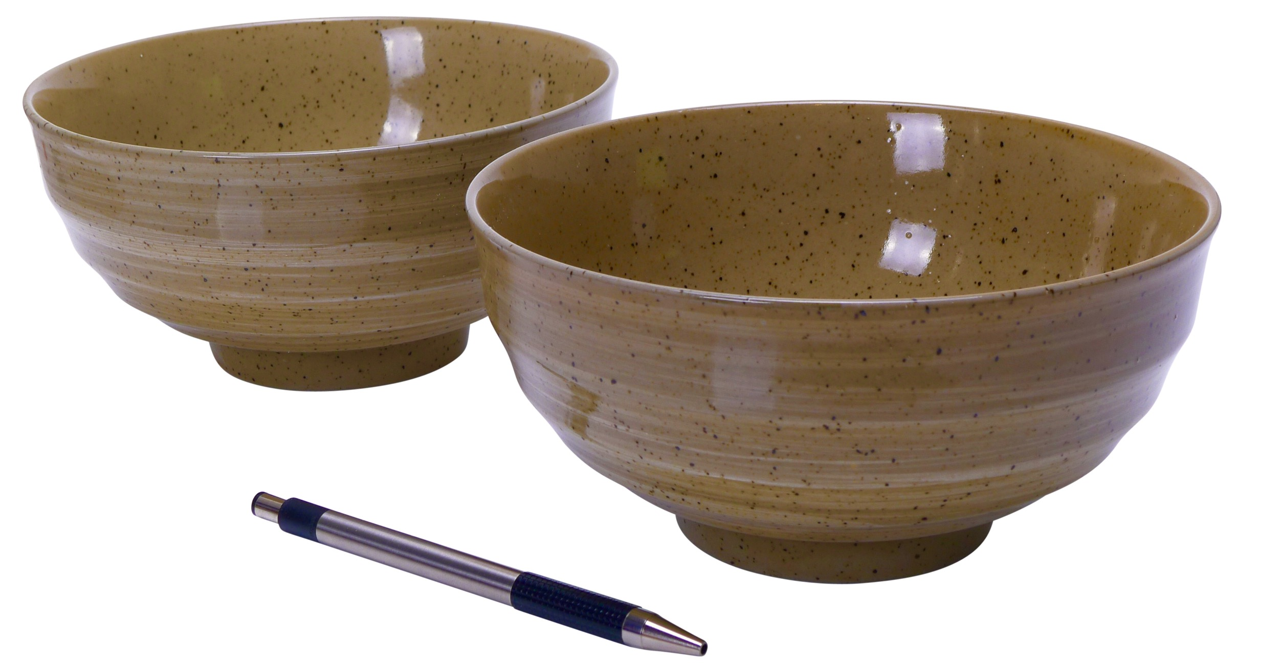 Image of Stoneware Bowls, Brown, 6.75 x 3.25-Inch, Set Of Two