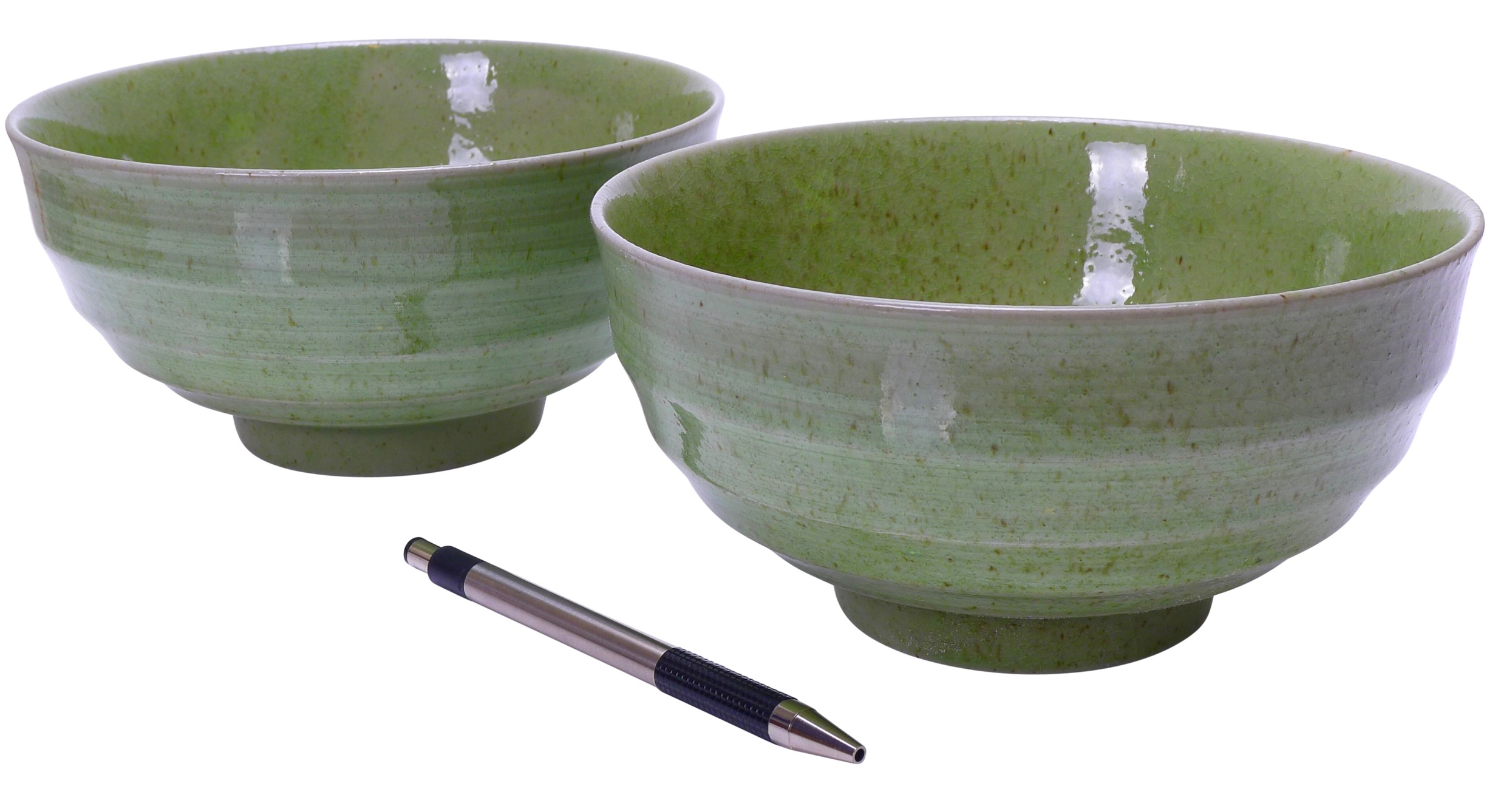 Image of Stoneware Bowls, Green, 6.75 x 3.25-Inch, Set Of Two
