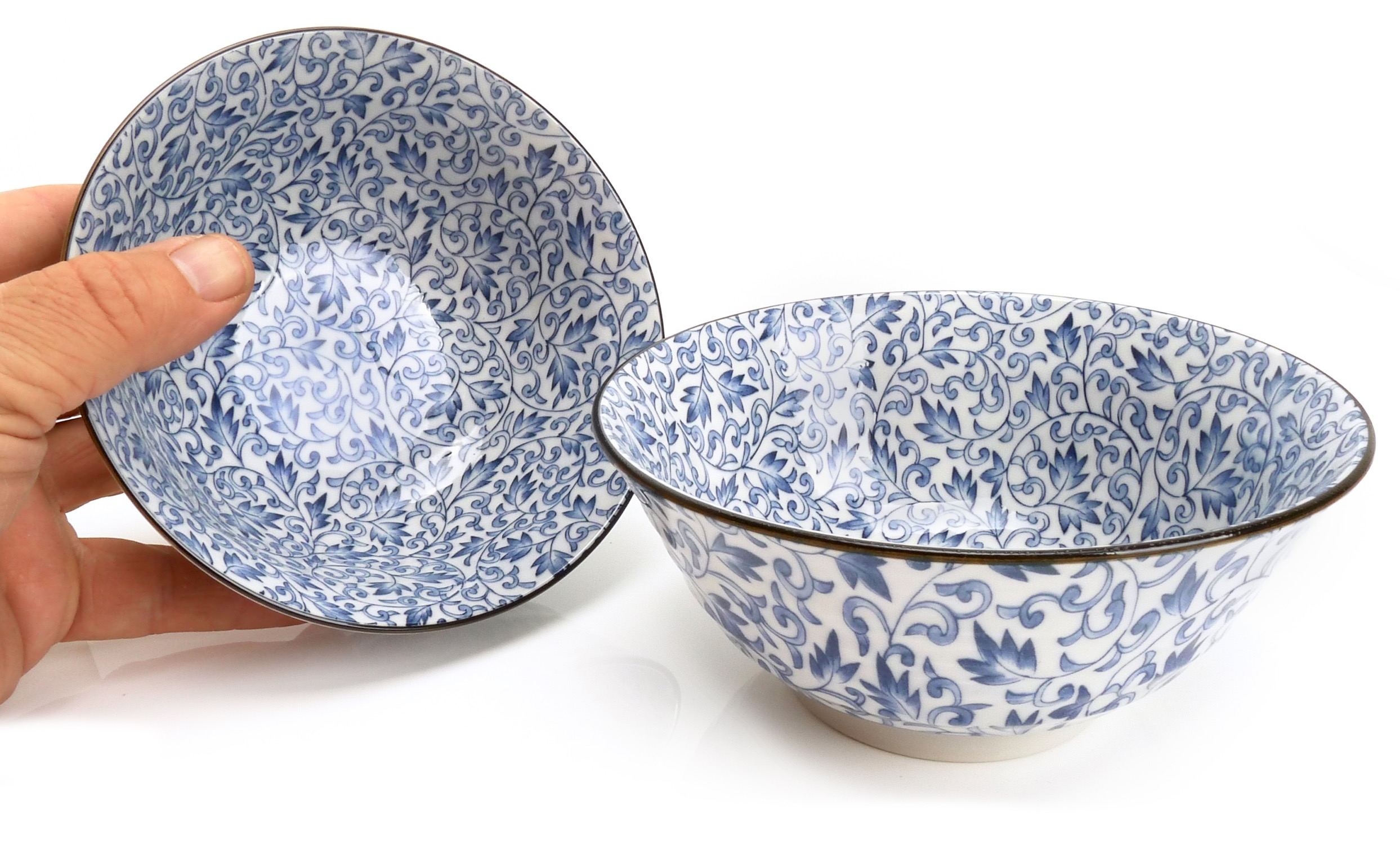 Image of Porcelain Bowls, Blue Ivy, 4.75-Inch, Set Of Two