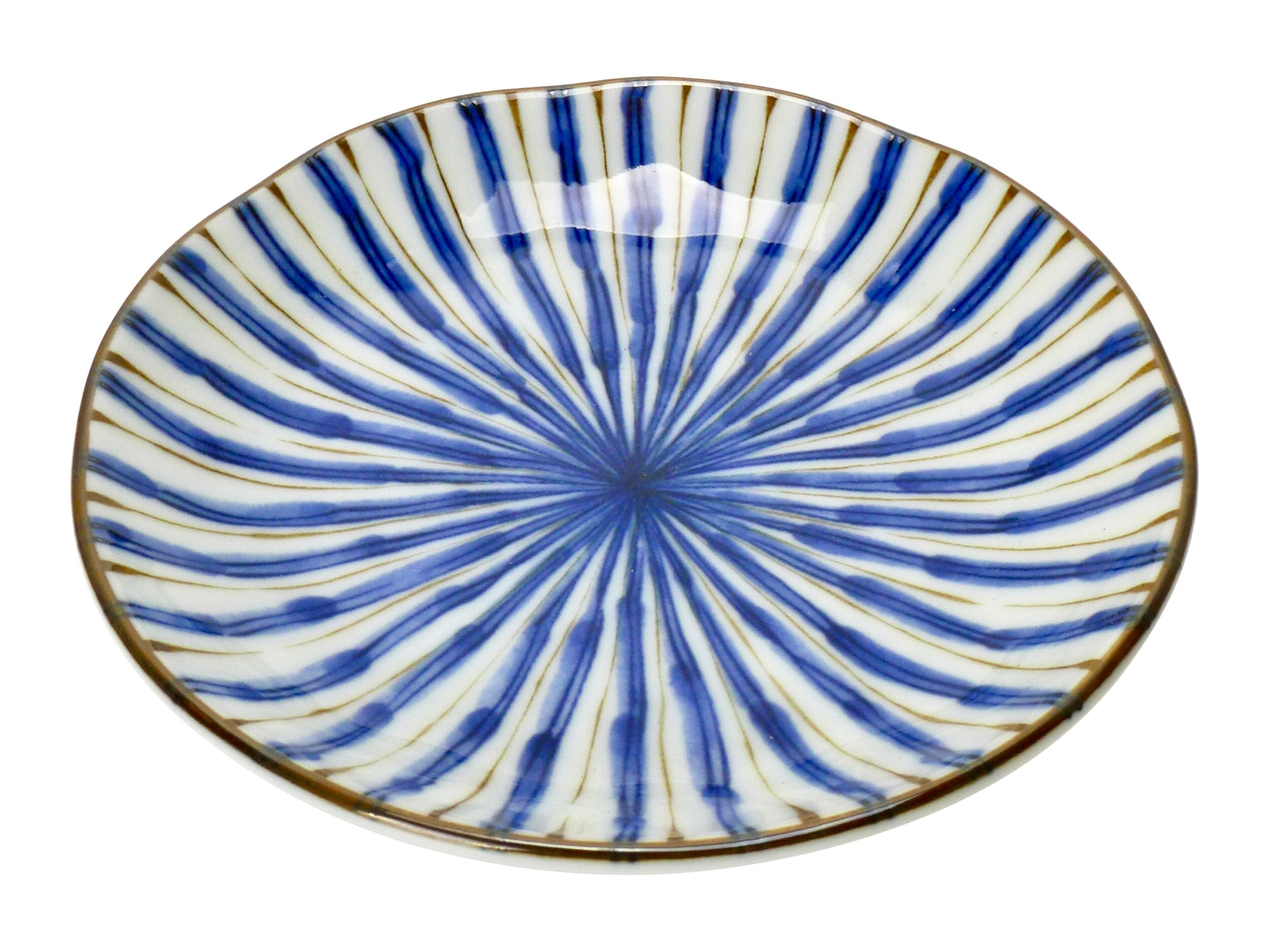 Image of SALAD OR DESSERT SIZE - Blue Pattern, 6.25 Inch, Set of 4