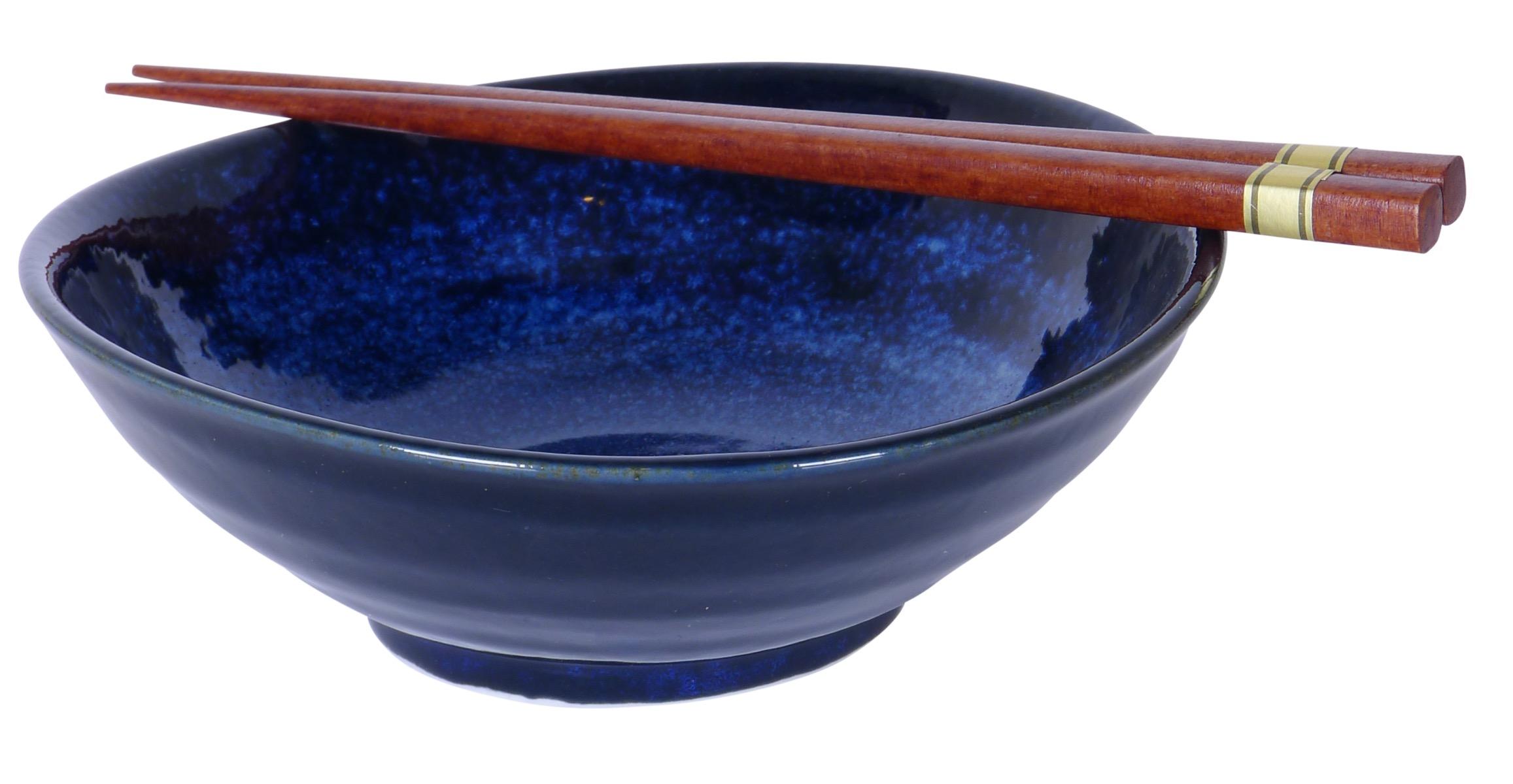 Image of Cobalt Blue Shallow Bowls 7x2.5-Inch