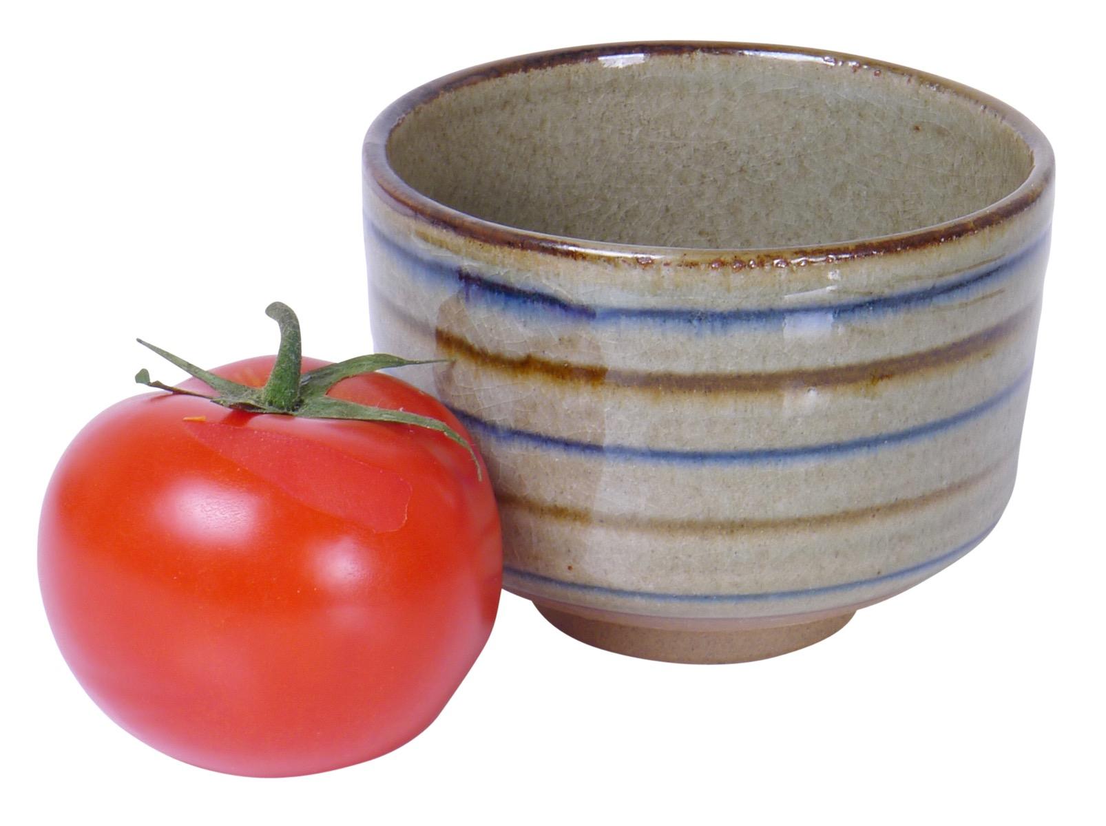 Image of Brown Stoneware Kobachi Bowl  4.25x3.25-Inch