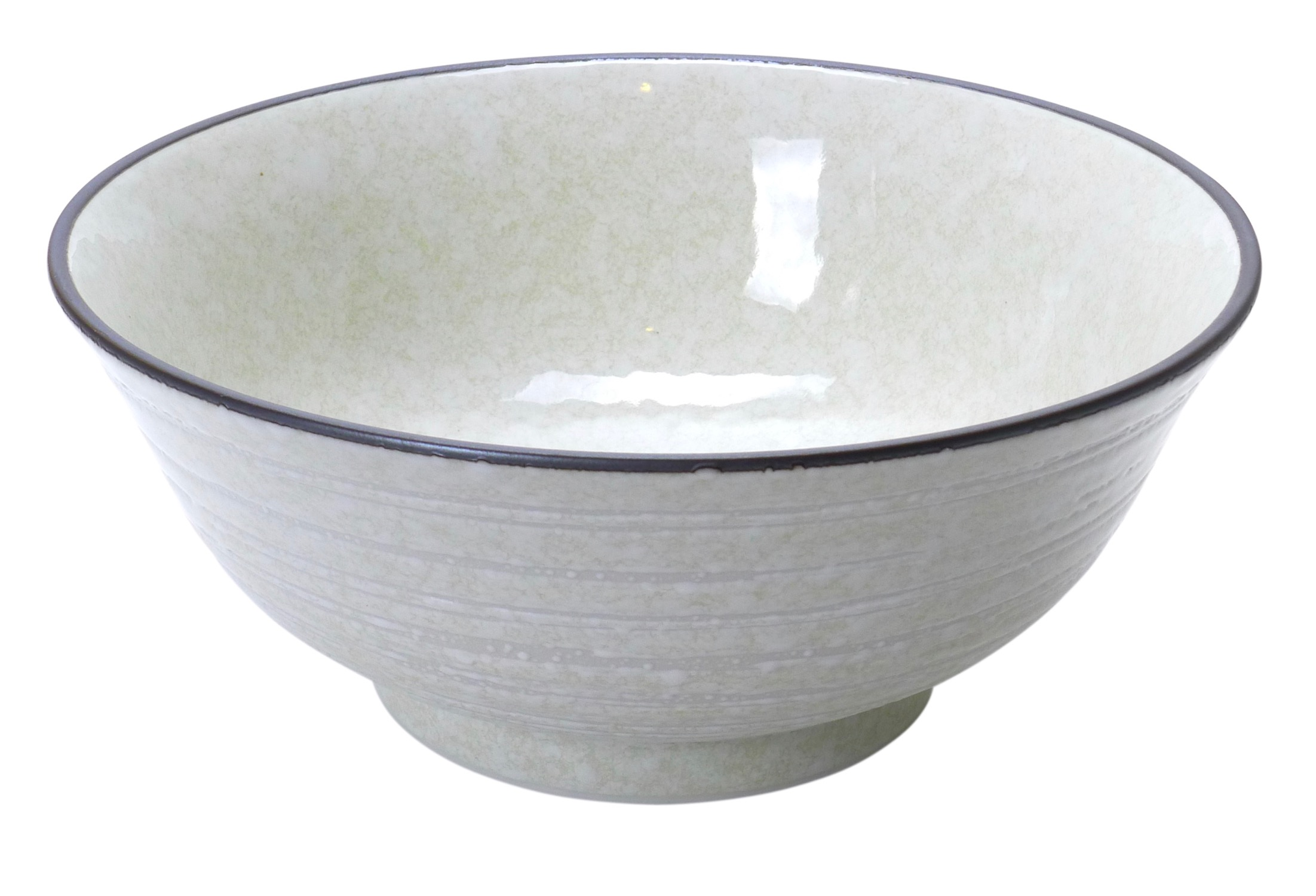 Image of White Handformed Porcelain Bowls, 6.75x3.25-Inch, Set Of Two