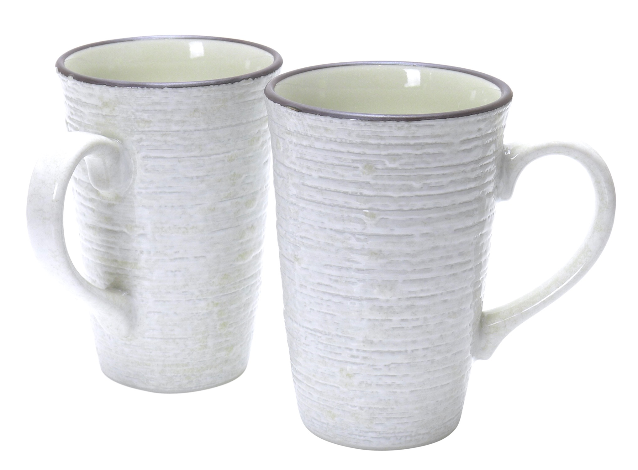 Image of White Handformed Porcelain Coffee Cup, Set Of Two
