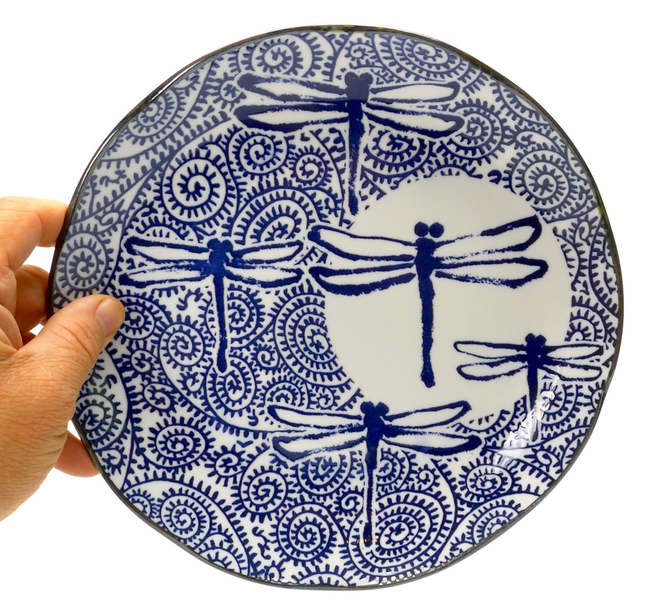 Image of Japanese Dragonfly Plate - 10 inch size