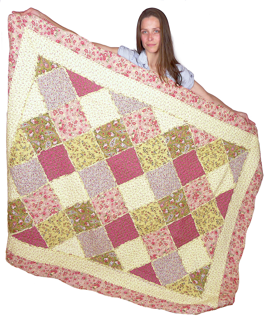 Image of Oversized Quilted Throw 55x70-Inch - Cream