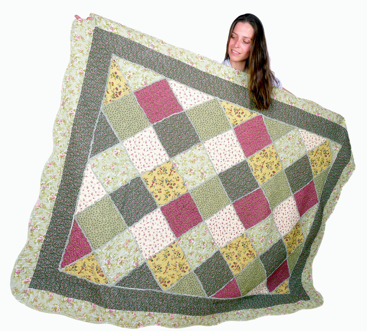Image of Green Oversize Throw 55x70