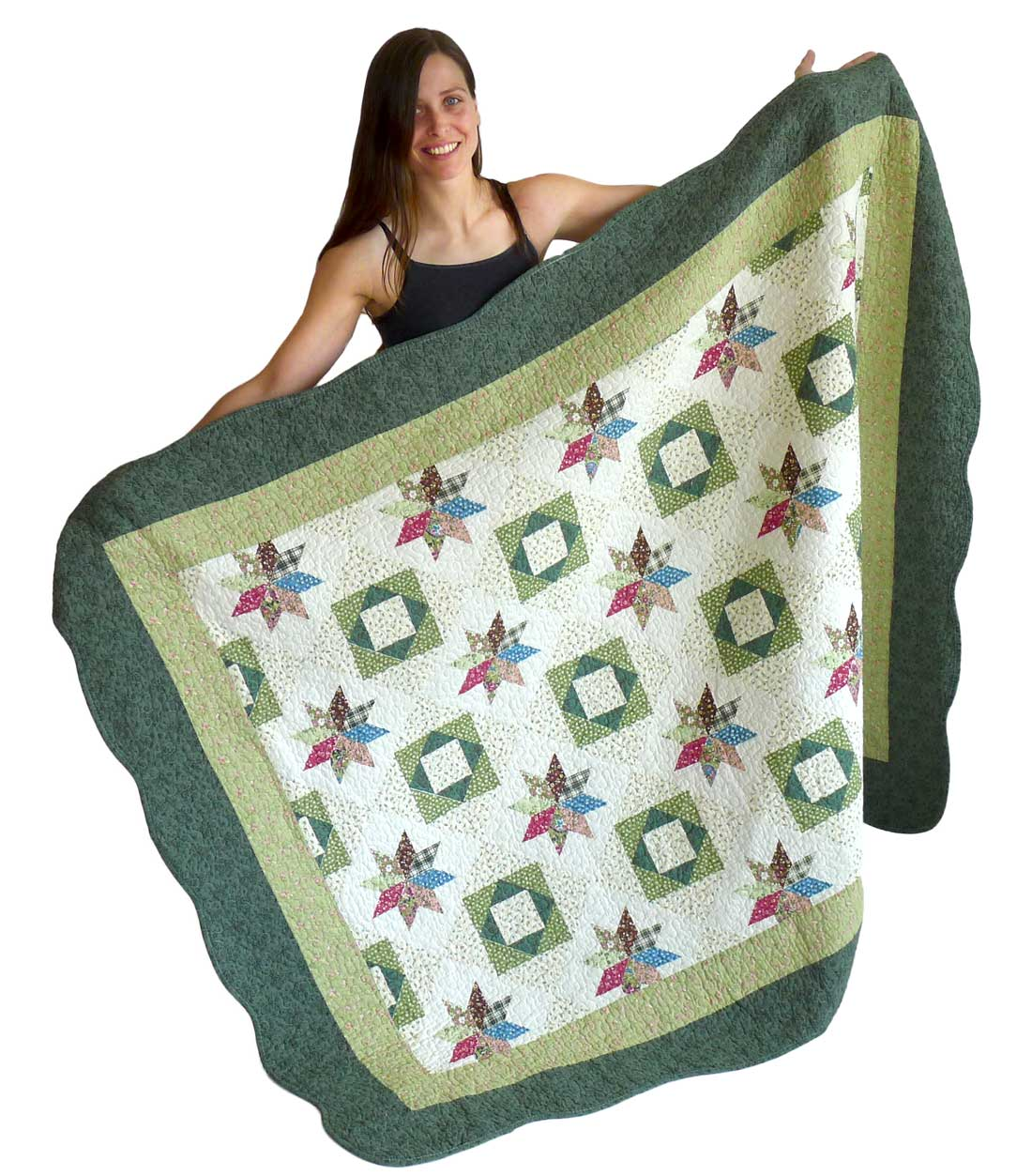 Image of Green Star Oversize Throw 55x70