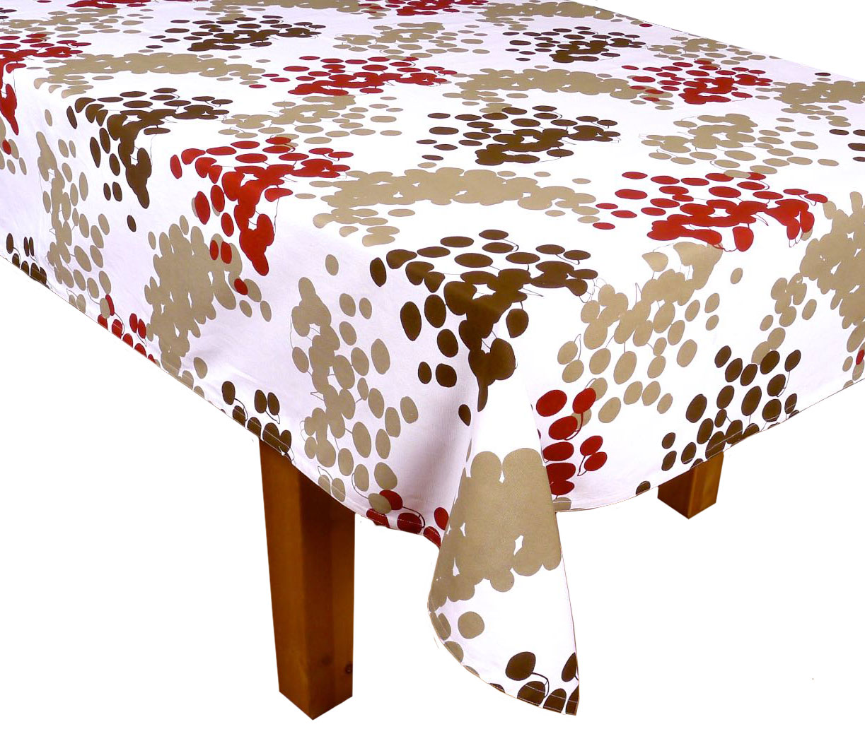 Image of Bordeaux Cotton Tablecloth, 90-Inch
