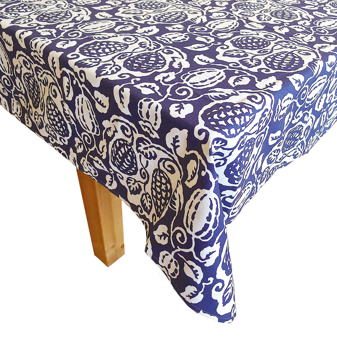 Image of Indigo Poppy Tablecloth