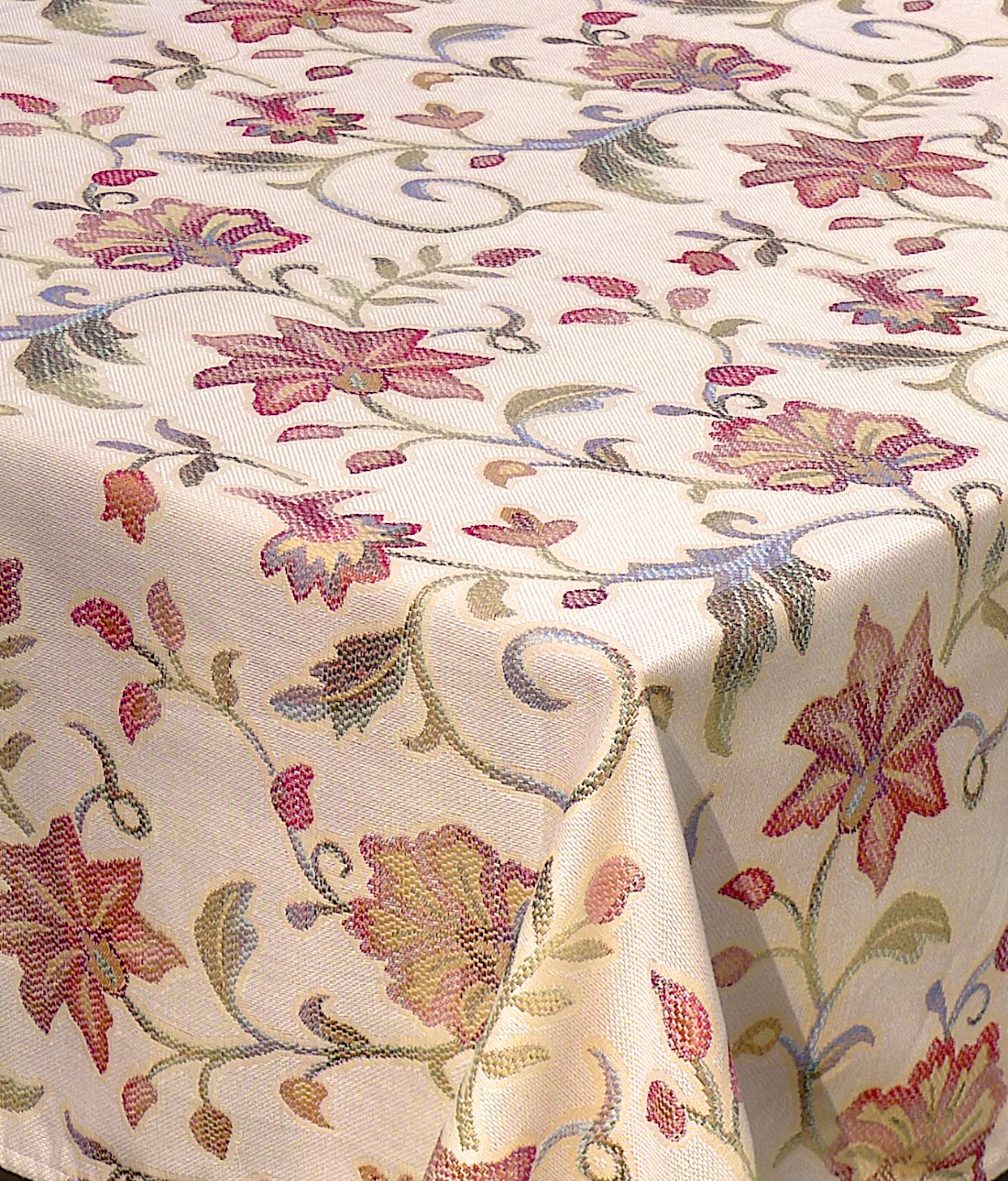 Image of Jacquard Flax / Linen Tablecloth