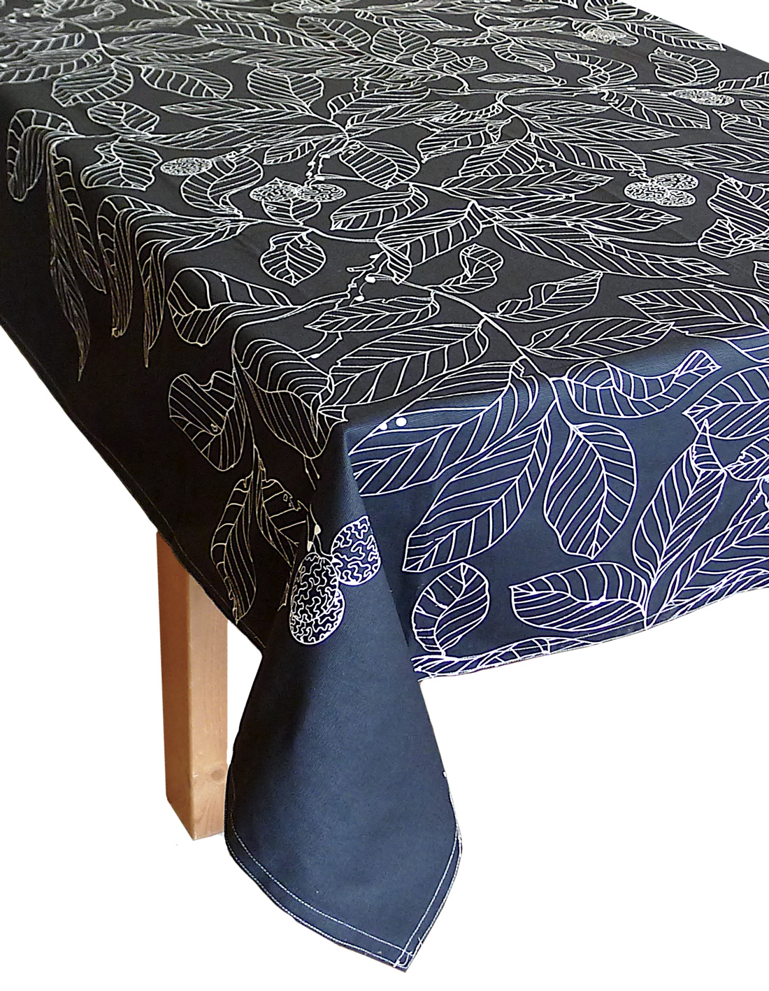 Image of Black Madrona Tablecloth, 90-Inch