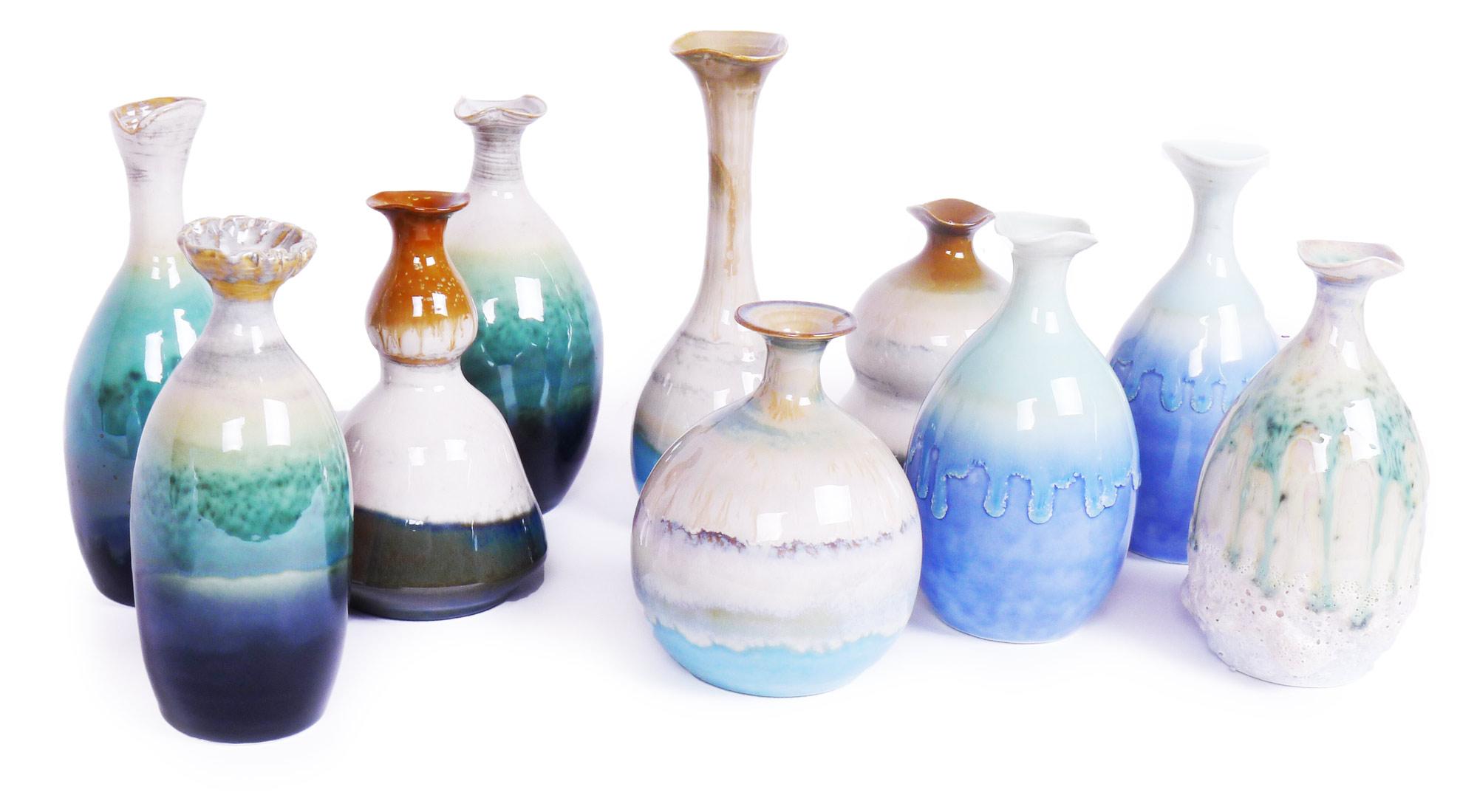 Image of Random Assortment of 4 Unique Vases